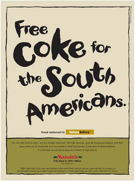 nandos free coke
