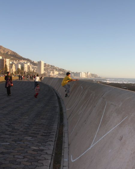 sea point promenade on mandela day