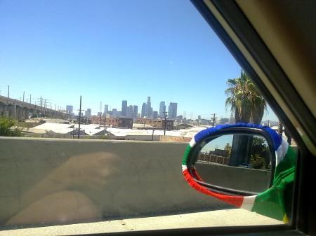 a view of LA