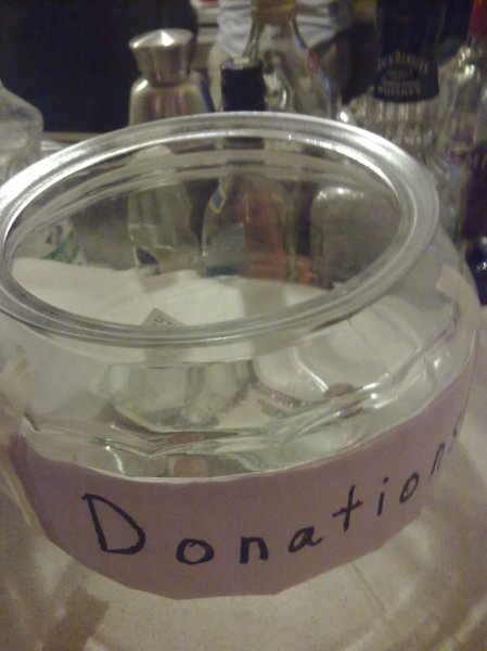 party donation jar