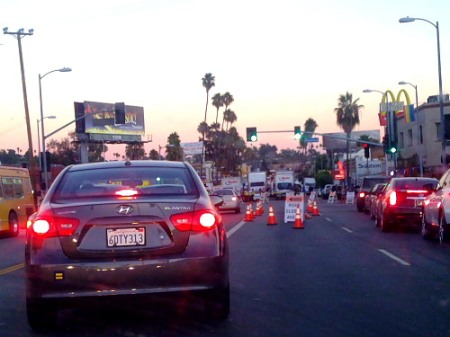 sunset boulevard closed for filming