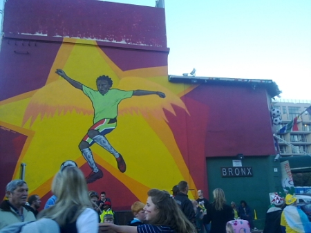 world cup mural on bronx wall