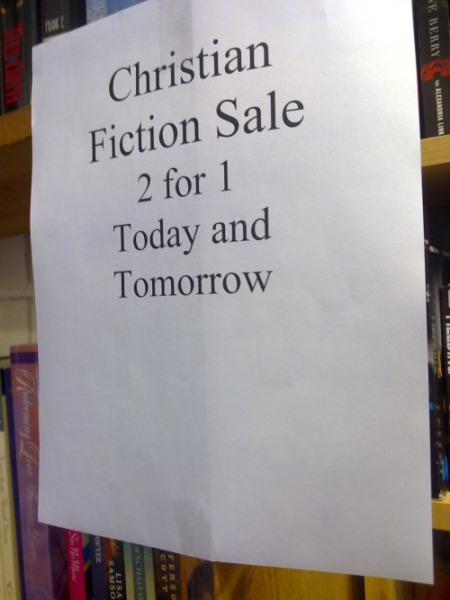 sign in book store christian sale