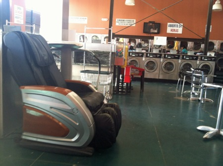 24 Hr Laundry with Massage Chair, and Running Machine, and Wifi.