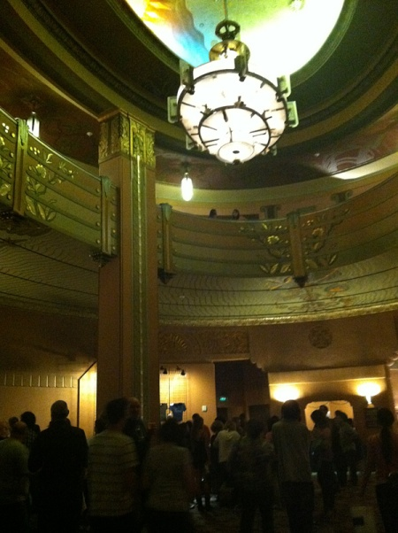 I've always wondered what it was like inside the Wiltern. Now I know - it's amazing.
