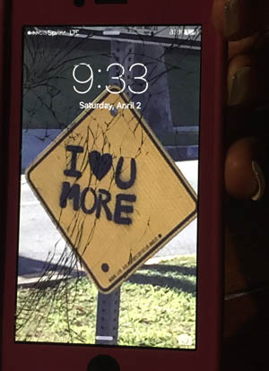 I took this photo of someone's phone. I was on a date with them.